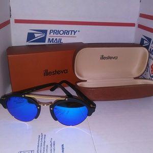 New Illesteva Milan 2 Blue Sunglasses